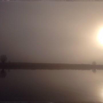 Nebel an der Trave